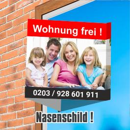 Maklerschilder, Nasenschilder, Immobilienschilder, flyerole.de